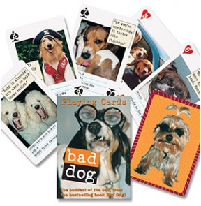 Bad Dog Playing Cards