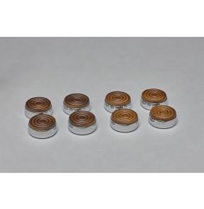 Shuffleboard Weights Wood Caps