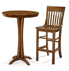 Brunswick Pub Table and Two (2) Pub Stool Package