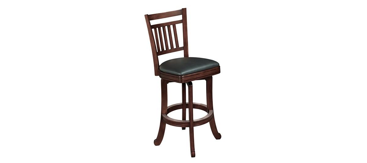 Heritage Wood Slat Back Barstool Furniture