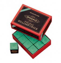 Billiard Chalk-12 piece, Green